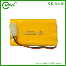 AA 500mah 9.6v ni-cd rechargeable battery pack