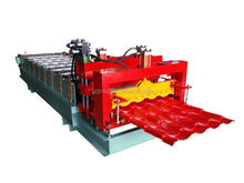 trapezoidal roof tile glazed type roller forming machine Glaze Tile Metal Roof Panel Cold Bending Roll Forming Making Machine