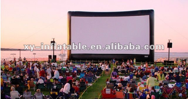 Movie Theater Screen Inflatable, Inflatable moive screen, inflatable movie screen and projector