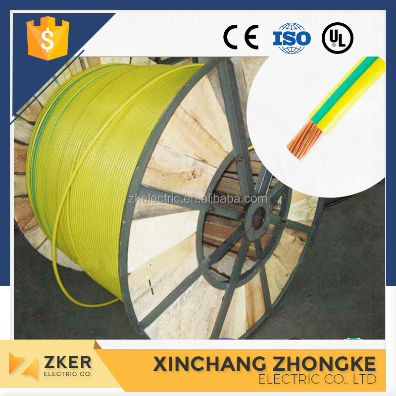 Yellow Green pure copper Ground Wire, Earthing Ground Cable