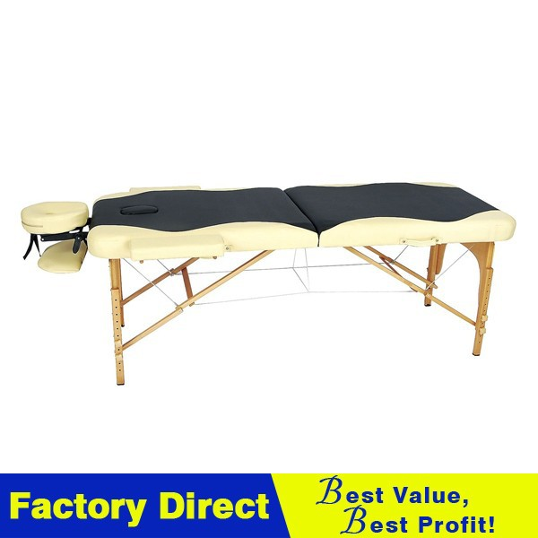 wooden massage used electric table