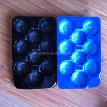 23*38cm PP Fruit tray Liner Blue 9 fruits