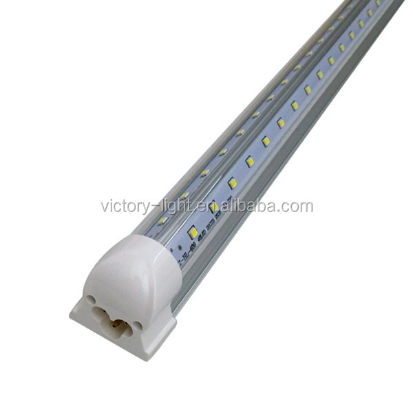 39w 1.8m 6 feet UL linkable t8 double pcb led <strong>tube</strong> with two sided v shaped