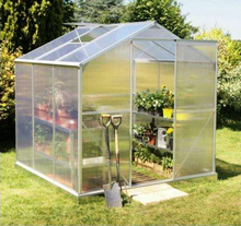 High cost performance hobby aluminium 6mm polycarbonate garden prefabricated greenhouses