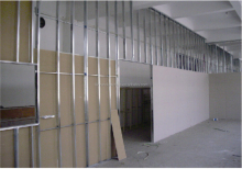 Light weight sound proof heat insulated cheap partition walls