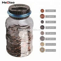 Heqiao Digital Coin Counting jar Counting Money Bank support USD, EURO, GBP and OEM