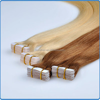 Hot fashion in Australian market! No shedding super tape hair products double drawn Pu/skin weft remy european hair