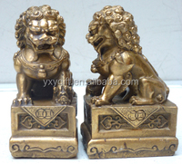 wholesale brass lion statue/ lucky lion small size/fengshui products