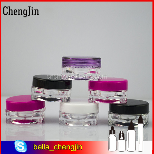 empty tiny small plastic sample mini bottle jars 5g cosmetic makeup containers pot