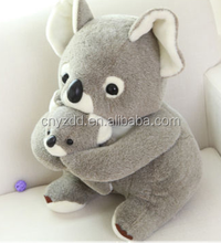 Plush Koala Bear Stuffed Animals Soft Mother and Baby Toys Sitting Dolls