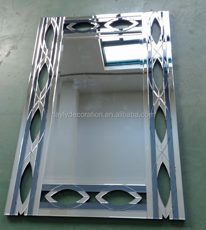 silver and grey color decorative hand mirrors