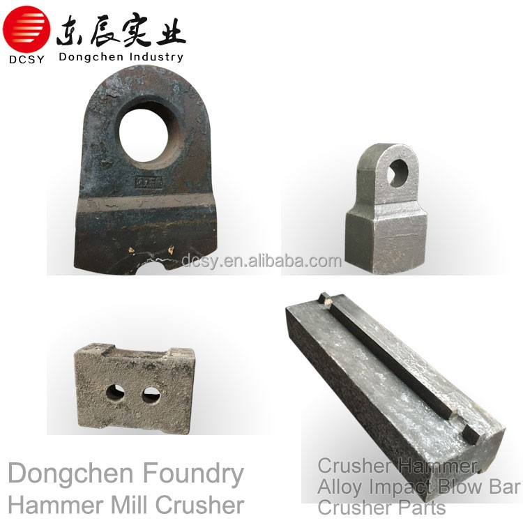 Manufacturer of Foundry crusher spare parts impact hammer