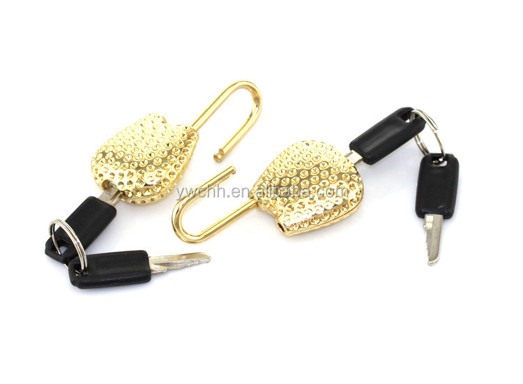 Mini key padlock cute shape padlock nice for bag and promitional gift gold lock
