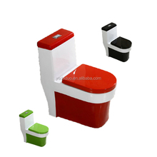 Commercial ceramic sanitary black red green color toilet bowl porcelain colored closestool hotel water closet for hotel