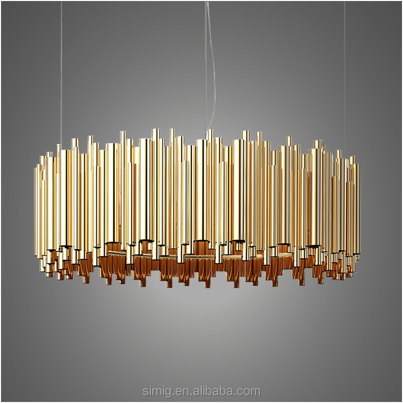 G9 delightfull brubeck modern golden color led aluminium pendant light for hotel
