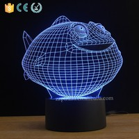 NL35 3d decoration fancy lighting with fish shape