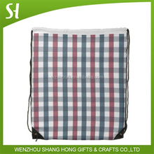 new style cheap drawstring bags/foldable shopping bag/black small nylon mesh drawstring bag