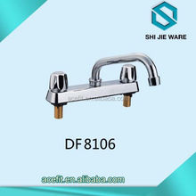 Chrome Plated Bathroom Basin Water Faucets Classic Style Double Handle Long Neck Bothtub Water Faucet
