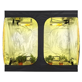 Indoor Hydroponics Highly Reflective Fabric Durable Mylar Plant Grow Tent 240x120x200cm