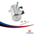 "PQY RACING-19mm 3/4"" BARB POLISHED ALUMINIUM OIL CATCH CAN BREATHER TANK RESERVOIR Height 138mm PQY-TK3204"