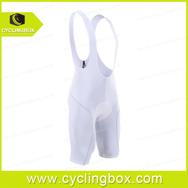 2015 Custom wholesale price white quick dry gentleman cycling bib shorts in high quality