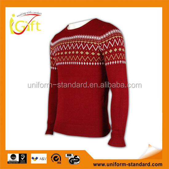 ISO9001/BSCI Manufature custom popular christmas knitted pullover sweater