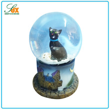 Modern hot sale festival gifts black cat halloween water globe