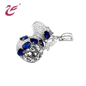Wholesale Fashion Jewelry Silver Plate Vase Pearl Cage Pendant