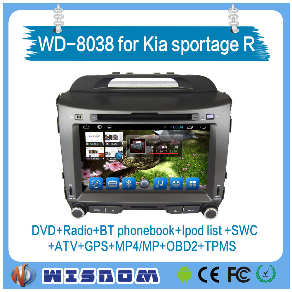 2 din for KIA sportage r car radio dvd gps navigation system android with morror link auto radio system 3g HD Rear View Camera