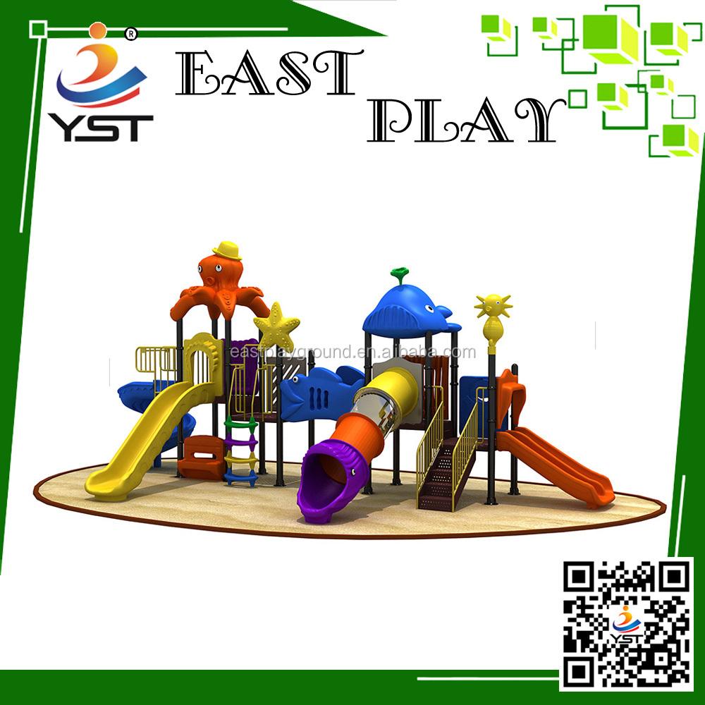 Used Metal Playground Equipment : Kids outdoor playground equipment plastic slide buy
