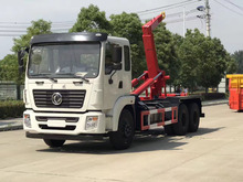 New design DONGFENG 6x4 Tianlong 12000L hook hydraulic arm garbage truck