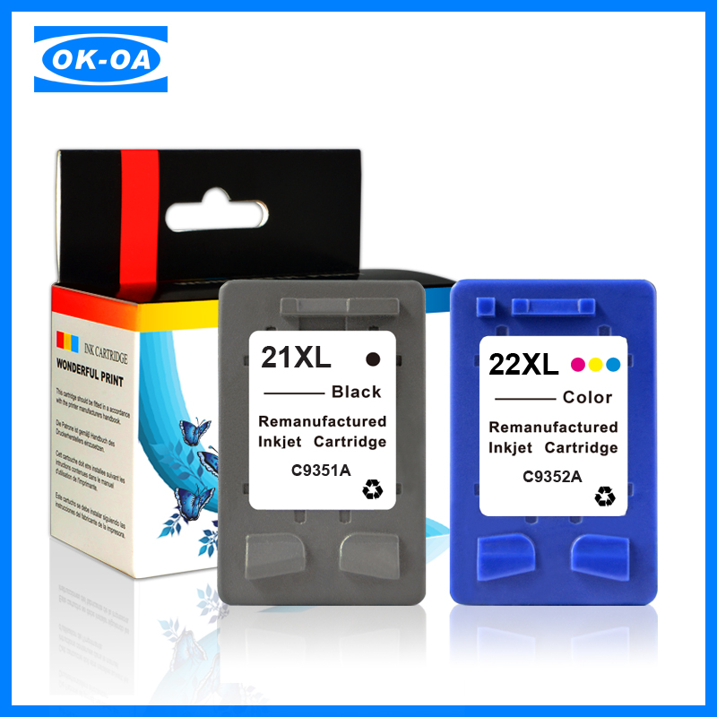new version and <strong>technology</strong> inkjet cartridge for hp21xl 22xl (c9351a c9352a) refillable ink cartridge