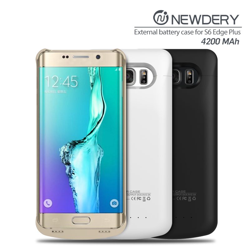 Rechargeable Mobile Battery Case backup slim power bank For Samsung GALAXY S6 Edge plus