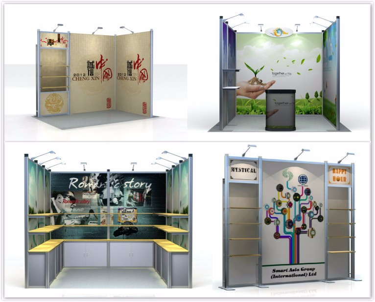Portable Exhibition Booth 3X3m Aluminum Modular Standard trade show exhibition Booth Display Stand Customized Design