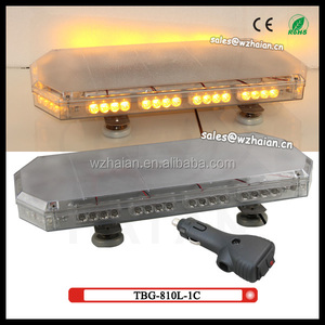 0.6m Clear dome and amber LED warning mini light bar With magnet feet and Cigarette plug