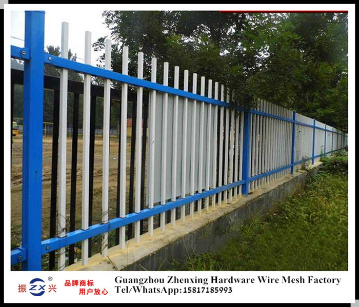 Alibaba supplier wholesale zinc-coated steel fence for courtyard ZX-XGHL29