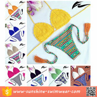 Fashion Design Handmade Knitted Bikini Swimwear