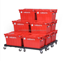 Plastic fruit crates/plastic tote with lid /clear plastic boxes