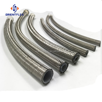 Best selling flex high temp stainless steel ptfe braided hose factory wholesale