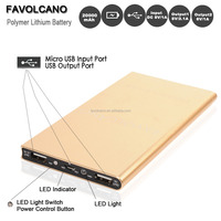 Portable Power Bank Universal 20000mAh 2 USB External Battery Pack Charger Phone Golden