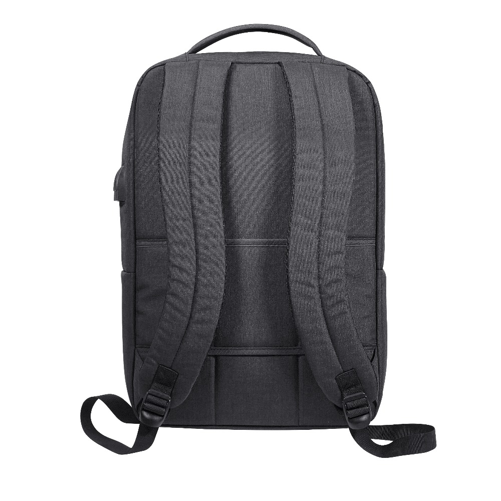 Characteristics Latest Personalized 300D Polyester Black Short Handle sling Office Backpack with USB charging port