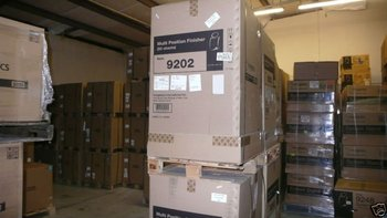 KONICA MINOLTA FS-504 15JK in (OCE box 9202) 50 SHEET MULTI-POSITION STAPLING FINISHER for BIZHUB 600