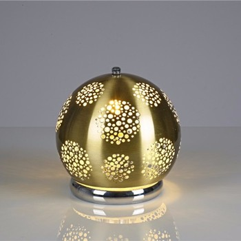 Ball Lamp Gloden Table Light Decoration Garden Etched Lighting