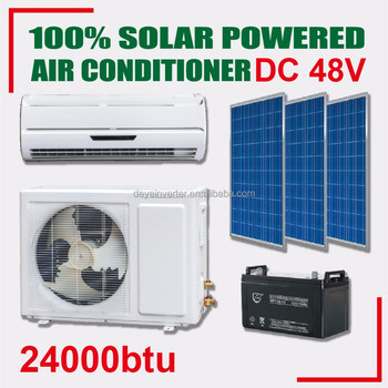 wall split DC brushless motor energy saving off grid 24000btu frequency conversion air conditioner solar