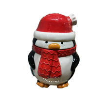 New Arrival Christmas Penguin Canister Ceramic Storage Jar