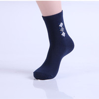 Wholesale high quality cotton and polyester mixed for adults new arrival men plaids socks