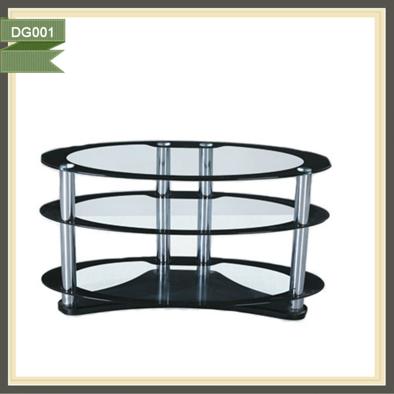 round glass tv stand motor for tv lift tv unit DG001