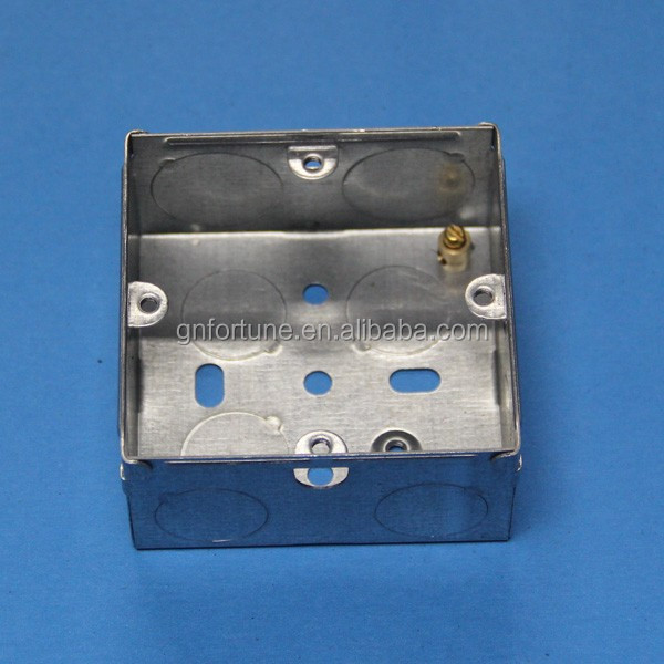 1 gang junction box / gi metal boxes / flush mounting box