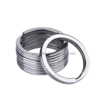 Corrosion Resistance 18mm 25mm 32mm Titanium Outdoor Tools Split Ring Bulk Titanium key Ring