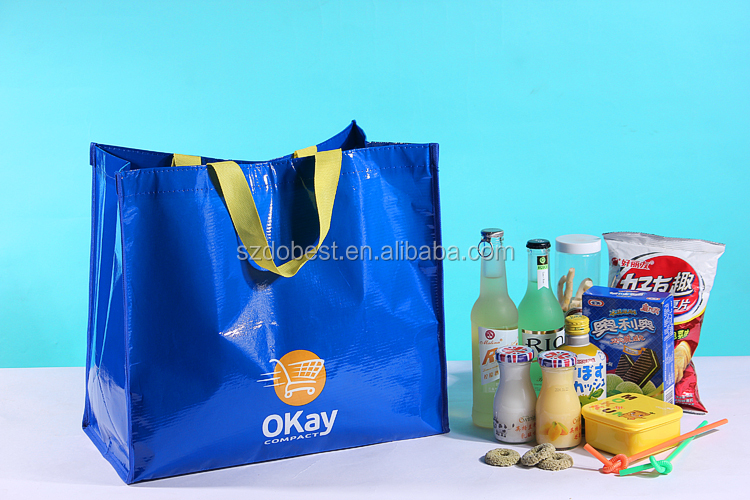 Promotional Cheap Custom handmade fabric pp woven shopping bags